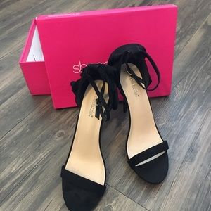 Shoedazzle Jadira Heeled Sandal Women's Black